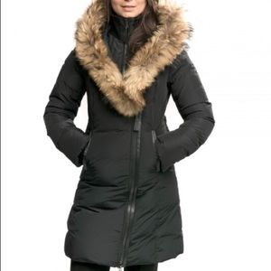 Kay Mid Length Winter Down Coat with Fur Collar